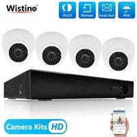 카메라 Wistino 8ch NVR CCTV 보안 시스템 키트 1080P 4pcs IP 카메라 나이트 비전 비디오 레코더 감시 모니터 키트 H.265 Xmeye