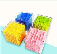 5.5 سنتيمتر 3d مكعب لغز متاهة لعبة اليد لعبة مربع المرح لعبة الدماغ تحدي الضغط اللعب