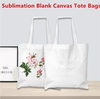 Sublimation Canvas Bag Sublimation Blank Canvas Tote Bags Reusable Grocery Bags for DIY Crafting and Decorating