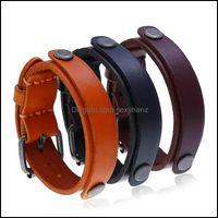 Bracelets Jewelrypunk Brife Personality Cuff Style Cowe Bracelet Aessories Jewelry Drop Delivery 2021 Wjioq