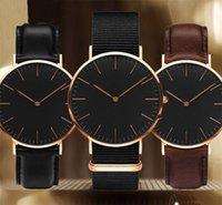 مصمم رجالي ووتش DW المرأة أزياء الساعات Daniel's Black Dial Leather Strap Clock 40mm 36mm Montres Homme