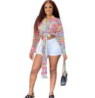 11 Renkler 2021ss Özel Baskılı Kumaş Yüksek Kalite Bluzlar Kadın Rahat Gömlek Ins Moda Yaka Giysileri Uzun Kollu Mektup Desen Düğmesi