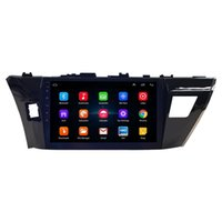 Toyota Corolla에 적합 2014-2017 안드로이드 자동차 스테레오 오디오 10.1 인치 터치 스크린 GPS 네비게이션 이중 DIN 블루투스 FM 수신기 전화 미러 링크, + 백업 카메라