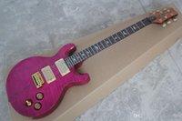 klxq prs santana flam lönn topp lila abalone inlay anpassad butik privat lager signatur elektrisk gitarr