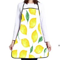 Grembiuli di limone per le donne uomini BBQ Sunflower Tree Leaf Home Cucina Cucina Cameriera DETRES CHEF GRILL BISTRO BISTRO TOKING Grembiule Utensili da cucina HWB8476