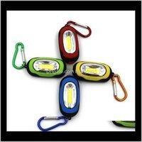Llavero Linternas Lluvias Llegada Portátil Mini Llavero Pocket Torch 3 Modos COB LED Luz Linterna Lámpara Multicolor Minitorch con tope C0VJA
