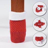 Чехлы для стула 4 Шт. Нога для ноги Чехол Пол Защита вязание Рождественские носки противоскользящие столовые мебельные ноги рукава защитные