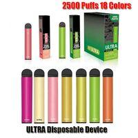 Ultra-Einweg-Pod E-Zigaretten-Gerät-Kit 2500 Pufffs 850mAh-Batterie Vorgefriede Cartridge Vape Pen vs Bar Plus extra