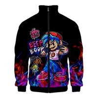 Spiel Friday Night Funkkin 3D Baseballjacke Männer Frauen Harajuku Streetwear Hip Hop Hoodies Casual Stand Collar Zipper Sweatshirt