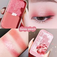 Eye Shadow Hard Candy Double Color Eyeshadow Palette Makeup Sequins Matte Pearl Highlighter Powder Y