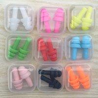 Placas de silicona para los nadadores con tapones para las orejas suaves y flexibles para reducir el tapa del oído del ruido 8 colores
