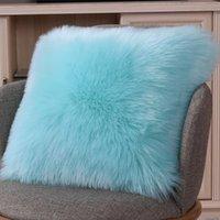 Cushion Decorative Pillow El Cushion Cover Washable Zipper Closure Bedding Universal 45x45cm Soft Plush Square Case Modern Style Home Decor