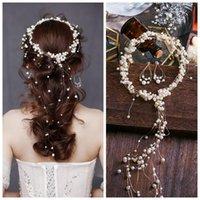 Hair Clips & Barrettes Wedding Accessories Crystal Bridal Tiaras Hairbands Hairpins Flower Pearl Headbands Girls Headpiece Ornament Mesh Cho