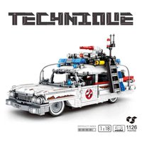 MOC 1126 PCS Ghostbusters de Alta Tecnologia ECO-1 2 Crianças Brinquedos Criadores Carros Bricks Filme Filme Buffy E Blocos de Construção para Crianças X0503