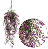 الملونة الزهور الاصطناعية الكروم الحرير شنقا اللبلاب ورقة نباتات الأوراق للمنزل حديقة الجدار الديكور البلاستيك الزهور الزفاف hwe10671
