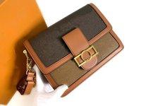 어깨 가방 Dauphine 미니 핸드백 크로스 바디 여성 Luxurys 디자이너 가죽 호보 토트 메신저 가방 지갑 지갑