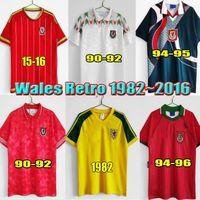 Retro Galler futbol forması 82 90 92 93 94 95 96 1982 1992 1994 1995 1996 Giggs Hughes HOME AWAY Saunders Rush Boden Speed vintage klasik futbol forması