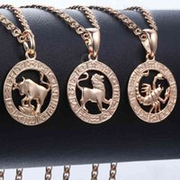 12 Trendsmax Zodiac Sign s Pendants Necklaces for Women Men 585 Rose Gold Male Jewelry Fashion Birthday Gifts Gpm16