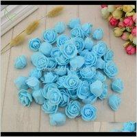 Декоративные цветы венки 120 шт. PE пена поддельные искусственные цветочные розы головы для свадьбы дома рождественские украшения венок Z7CPY NZPP7