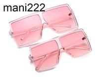 Mutter und Tochter Schatten Square Sonnenbrille Frauen Kunststoff Flat Top Kinder Sonnenbrillen 2021