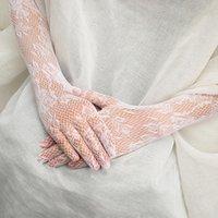 Cinco dedos Guantes 1 pares de mujeres Lace Largo Finger Tulle Etiqueta Elegante Etiqueta Strongy Sheers Piedra Fiesta Accesorios de Boda