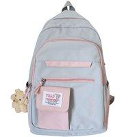 HBP Cute Ladies Harajuku Backpack Female Kawaii Book Fashion Bag New Girl Waterproof Nylon Backpack Student Women School Bags Laptop