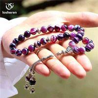Losheren Doğal Akarsu Taş İslam 33 Müslüman Namaz Boncuk Rosary Tasbih Misbaha Tasbeeh Sibha Masbaha Arkadaşı için Aile Hediyeleri 210331