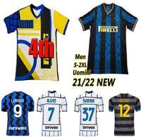 20 21 Lukaku Lautaro Eriksen Soccer Jerseys 2021 2022 Barella Inter Football Shirt Men Kids Offer Milan Hakimi Alexis Maglietta Da Calcio 4th الرابع