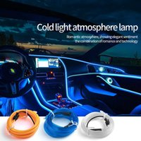 Car Neon LED Strip Light Decoration Flexible Atmosphere Lamp Auto Ambient Strip Party Room Motorcycle Bicycle Decorative Lights