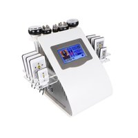6 In 1 40k Cavitation Slimming Machine Ultrasonic Vacuum RF Lipo Laser 8 Pads LLLT Lipolysis 635nm 650nm Fat Burning Body Shaping Beauty Instrument