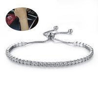 Charm Bracelets Elegant Rhinestones Bracelet Fashion Jewelry Luxury Minimalist Shiny Crystal Adjustable Chain For (White)
