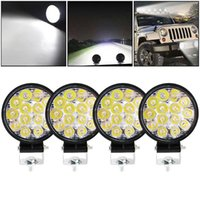 Working Light 1Pc 2Pcs 4Pcs 42W Round Bright LED Spotlight Work Fog Lamp For Car Repairing SUV Truck Driving Camping Hiking Backpacking