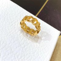 Fashion gold letter love rings bague for lady women Party wedding lovers gift engagement jewelry With out BOX