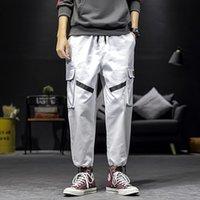 Pantaloni da uomo Uyuk 2021 Autumn maschile tuta uomo tempo libero tempo notte parte al pantaloni pantaloni pantaloni giapponesi stile grande m-5xl nero verde