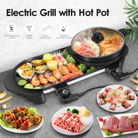 Portable Electric Grill Barbecue Pot Chafing Dish Household ...