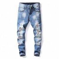 Biepa die neue mode mode euramerican stil loch ohne weiße hellblaue mühle kleine gerade jeans t1h0 #