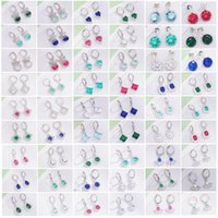 Hoop & Huggie 10Pairs Lots Lovely Earrings Wholesale Round CZ Simple Geometric Crystal Small Earings For Women Valentine Gifts Jewelry