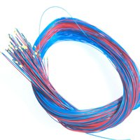 100 teile / los 0402 0603 0805 1206 SMD Modell Zug HO N oo Maßstab Vorlauf Micro Litz Wired LED-Leads Drähte 20 cm 210415