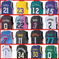 Kevin 7 Durant Kyrie Harden Irving Luka 농구 유니폼 Giannis Doncic Joel Simmons Dwyane Embiid Wade Atetokounmpo Pippen Morant