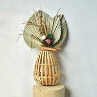 10 teile / los echte Cattail-Lüfter aufbewahrt trocken natürliche frische Palmblätter für immer Pflanzenmaterial für zu Hause Hochzeitsdekoration lle6455