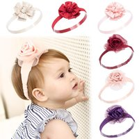 Newborn Baby Girls Lace Flower Hair Band Accessories Lovely Sweet Headbands Kids Princess Kawaii Hairbands Party Supplies Child