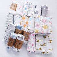 Infant Muslin Double Layer Blanket Baby Swaddle Wrap Stroller Cover Boys Girls cartoon Crawling Beach Batch Towels Z3020
