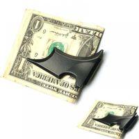 1 قطع جديد شعبي رجل المقاوم للصدأ batwing الخفافيش سليم معرف المال المال كليب حامل المغناطيسي حامل حامل محفظة للرجال النساء