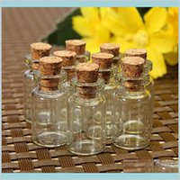 Bottiglie di stoccaggio Barattoli domestici Organizzazione domestica Housekeeping Giardino domestico all'ingrosso- 10pcs / set Mason Jar Piccola bottiglia di vetro fiale in sughero tappo