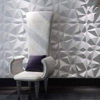 Art3d 50x50cm 3d plástico painéis de parede insonorizado design de diamante adesivos auto-adesivo para sala de estar quarto de fundo de tv (pacote de 12 telhas 32 sq ft)