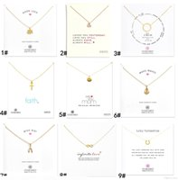 Новое прибытие с картой! Золотое серебряное цветное ожерелье с разным подвеском, крест, желающие кости якорные бесконечности круг слон сердца л
