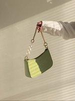 2021 Diseñadores de lujos Bolsas de axila Francesa Vintage Coginer Beads Cadena de perlas Hardware personalizado Allalound Womans Bolso Bolso Crossbody