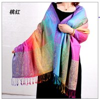 autumn winter fashion woman National Cotton and linen tassel Scarf in dual jacquard color ladies keep warm scarfs sunscreen 70*200cm 8colors girls Scarves