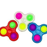 3 trous fidget push bulle spinner jouets sensoriel simple triple porte-clés sèche pince doigt bulles clés bout de doigts de stress de stress pour adultes g33i2oy