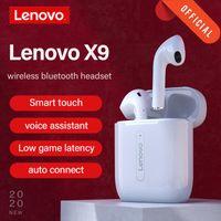 Lenovo X9 سماعات لاسلكية سماعة بلوتوث تعمل باللمس مركبتي ستيريو سماعة فائقة ضوء BT 5.0 ميني سماعات سماعات الأذن